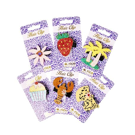 hair clips 6 designs