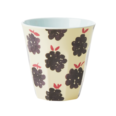 Melamine cup M blackberry print