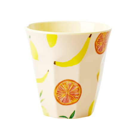 Melamine cup M happy fruit print