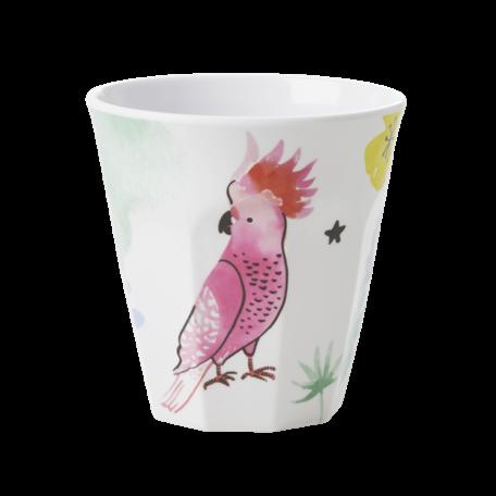 Melamine cup Cockatoo print