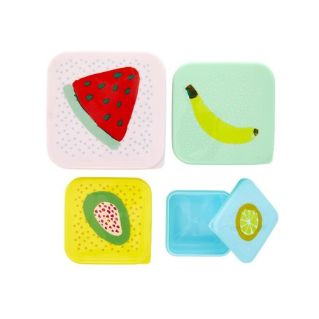 foodboxes with fruit print 4pcs