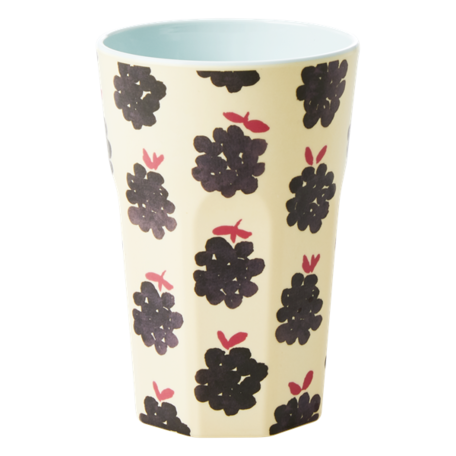 melamine cup L blackberry print