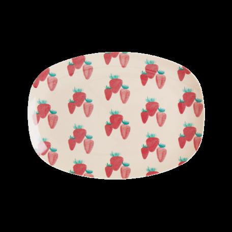 rechthoekig bord S strawberry print