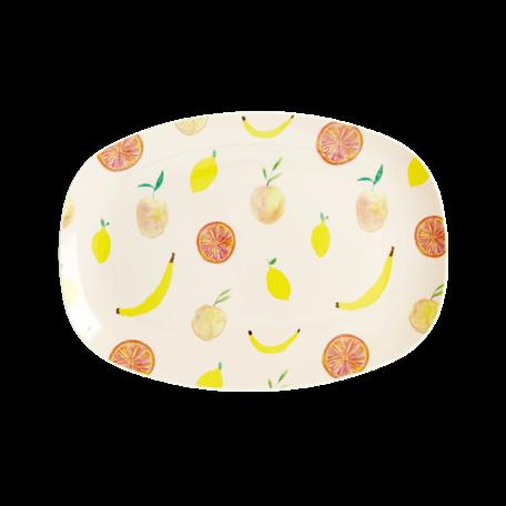 rechthoekig bord S happy fruit print