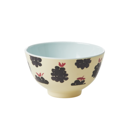 melamine bowl blackberry print S