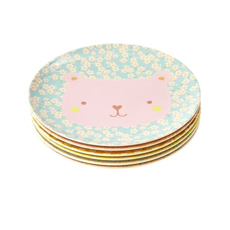 melamine kids lunch plate animal print
