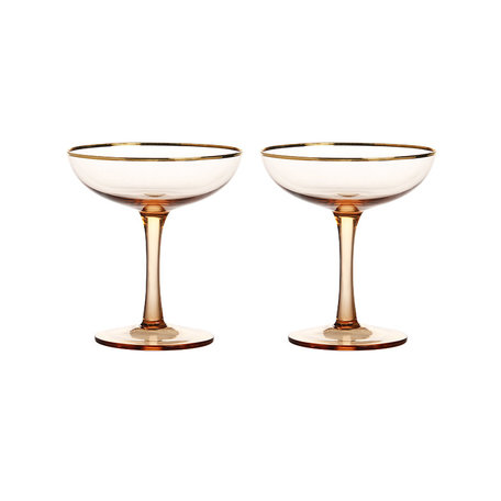champagne coupe set 2