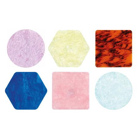 coaster pastel set 6