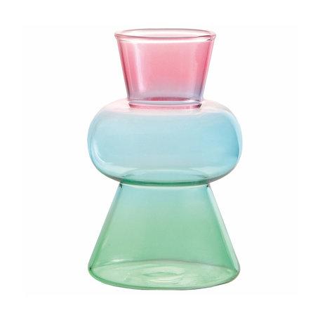 vase droplet pink