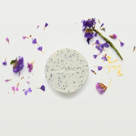organic scrub soap bar wild flowers