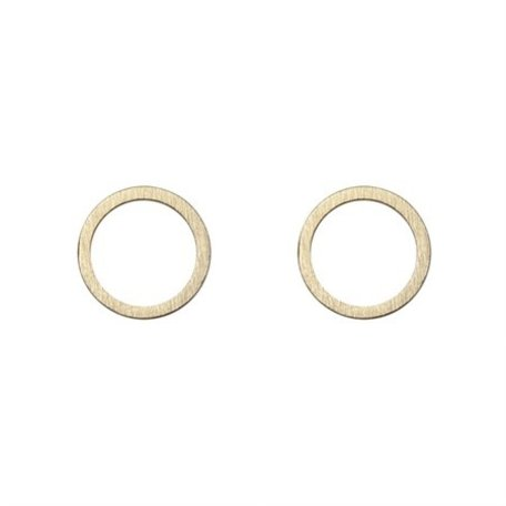 small cirle earrings gold