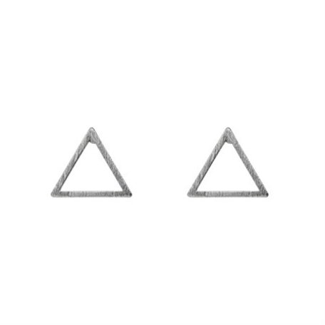 triangle earrings silver
