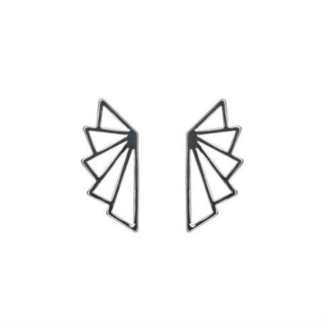 geo earrings silver 8269402