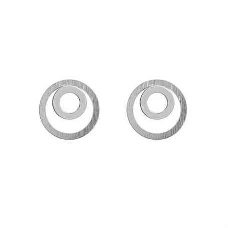 two circle earrings silver 8276501