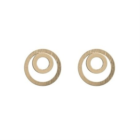 two circle earrings gold 8276502