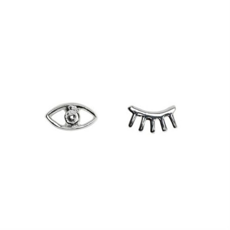 earrings eyes circle sterling silver 8289701