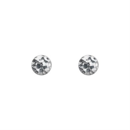 earrings hammered circle sterling silver 8289501