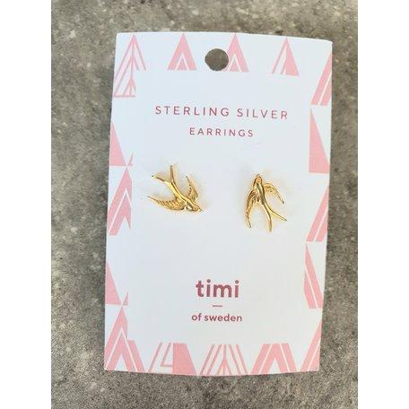 earrings swallow sterling silver gold  8289602