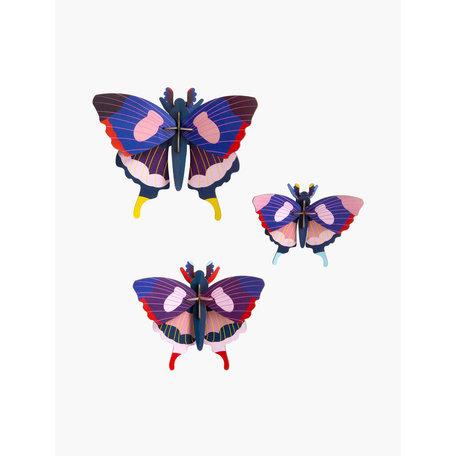 swallowtail butterflies set of 3