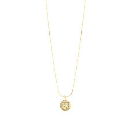 necklace with owl pendant gold