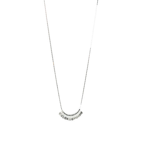 necklace with pips silver