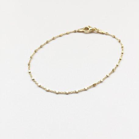 tiny square bracelet gold