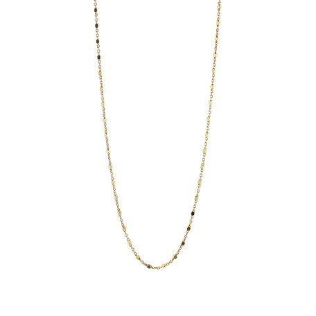 tiny square necklace gold