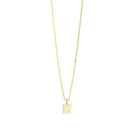 tiny square pendant