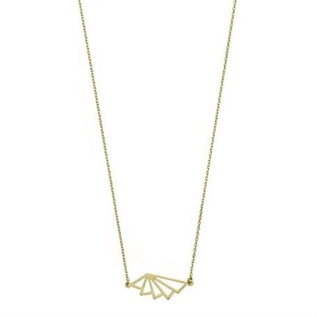 geo fan necklace 8284002 gold