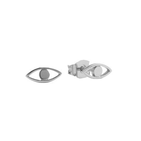 oorbellen oog zilver