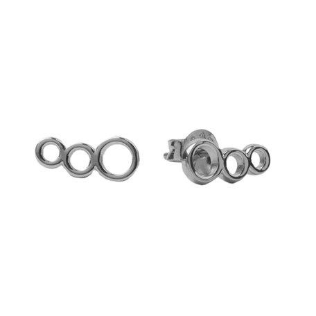 oorbellen 3 cirkels zilver