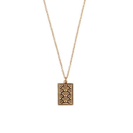 necklace regenboog rechthoek goud