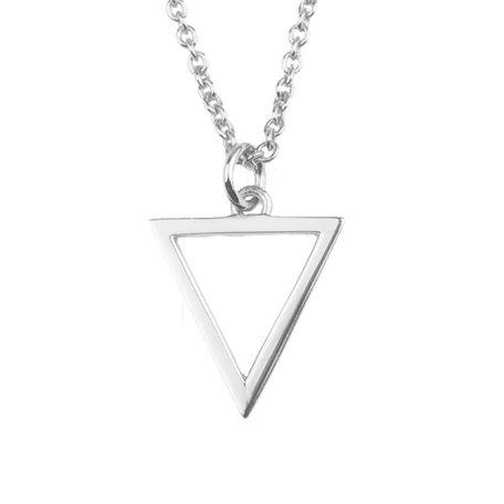souvernir necklace open driehoek zilver