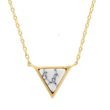 galaxy necklace triangle white