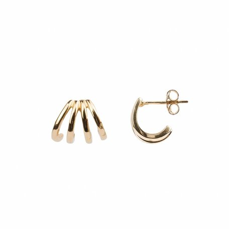 bliss earrings 4split goud
