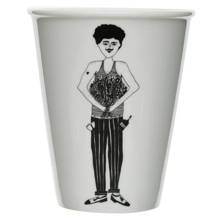 cup flower man