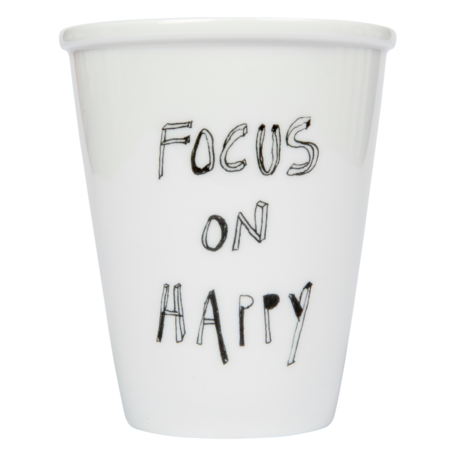 Cup focus on happy