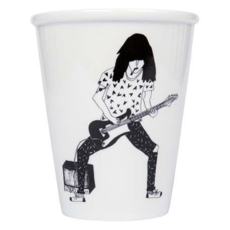 cup guitar player
