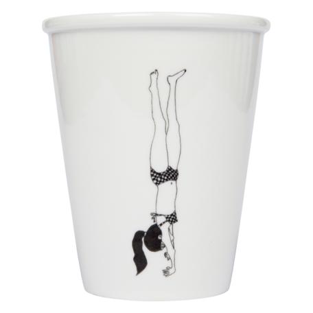 cup  handstand girl