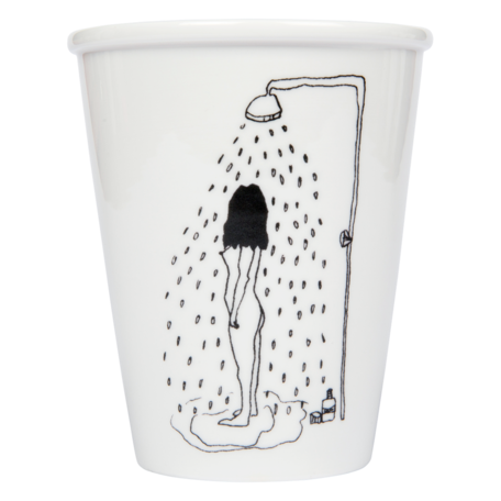 cup shower girl