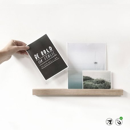 magnetic wooden shelf 30cm
