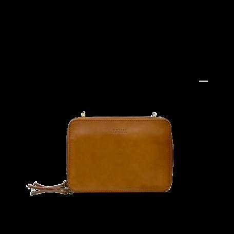 Bee's box bag cognac