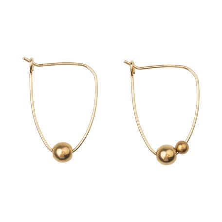 Lobogato earrings Asymmetric bead hoops