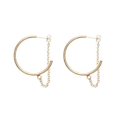 Lobogato earrings chain hoops