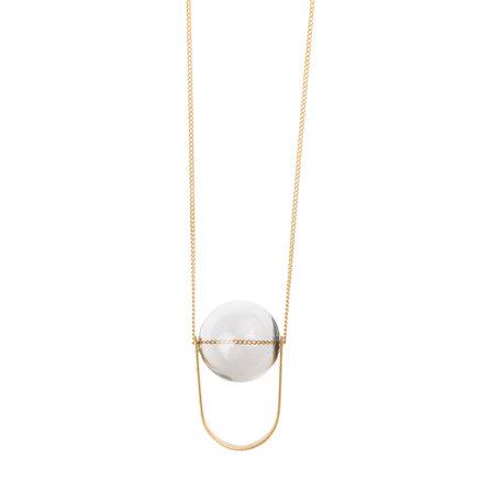Lobogato necklace long glass bead