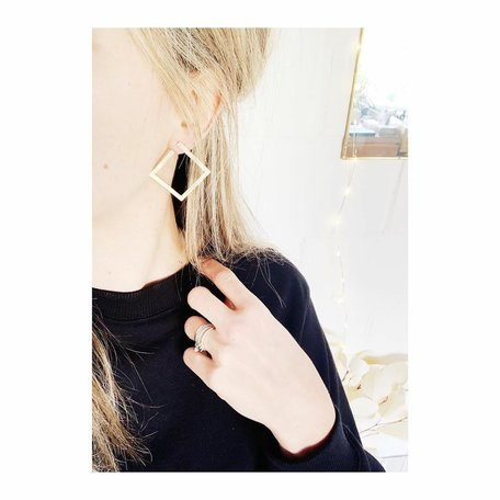 studio peloeze SQ earrings brass