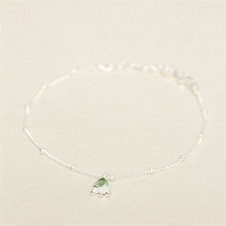 bracelet triangle and dots garnet 2055-sb-7