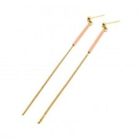 boucle d'oreille étincelle STE01 peach