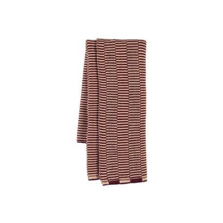 stringa mini towel aubergine/rose