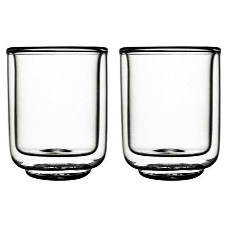 dubbelwandig glas FIKA 60ml set van 2